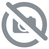 Elephant assis en velours bleu GM.